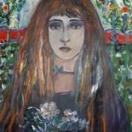 Lady in a Garden.